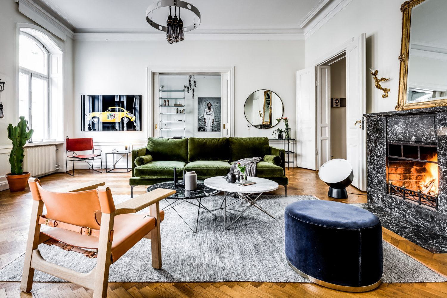 Large Scandinavian Apartment Bohemian Style Living Eclectic