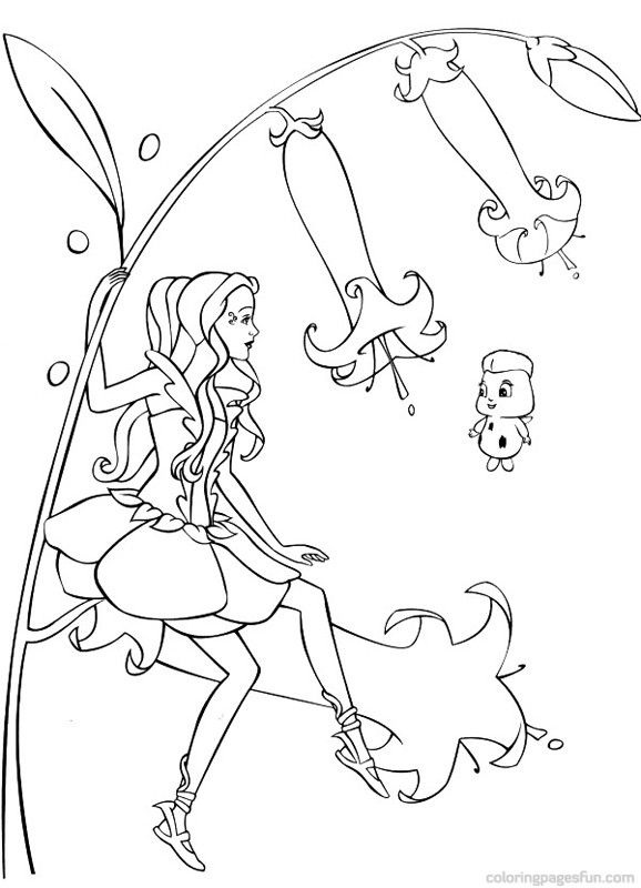 Barbie Fairytopia Coloring Pages 10 | Projects to Try | Pinterest ...