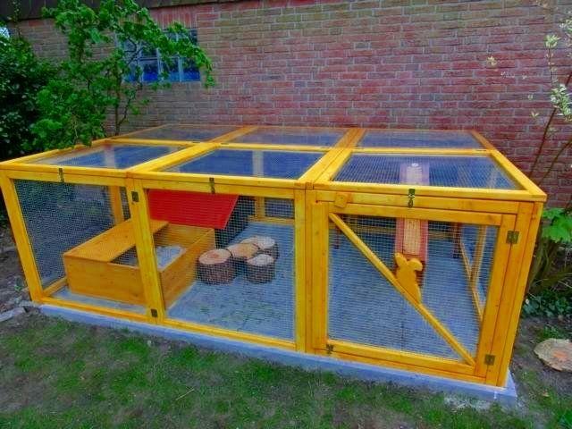 gartengehege bauen stall rabbit hutches bunny hutch und pets. Black Bedroom Furniture Sets. Home Design Ideas