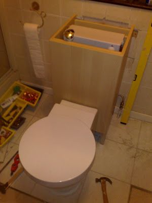 How To Hide The Cistern Ikea Hackers Back To Wall Toilets Hidden Toilet Concealed Cistern