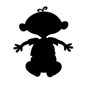 clip_art_silhouette_of_a_cartoon_baby_sitting_down_with_his_arms_out_0515-1002-0103-4312_SMU.jpg (300×300)