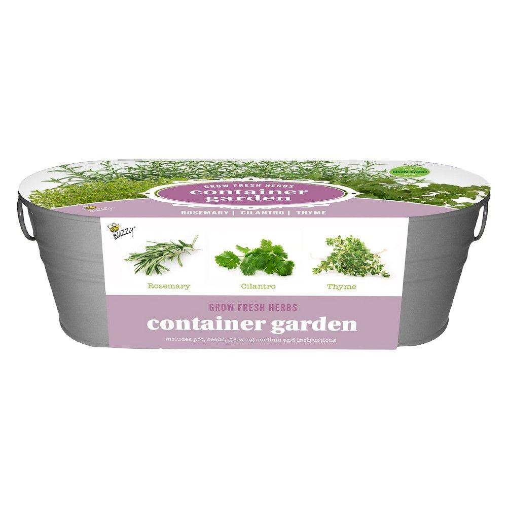 Buzzy Painted Windowsill Grow Kit Herb Varieties Rosemary