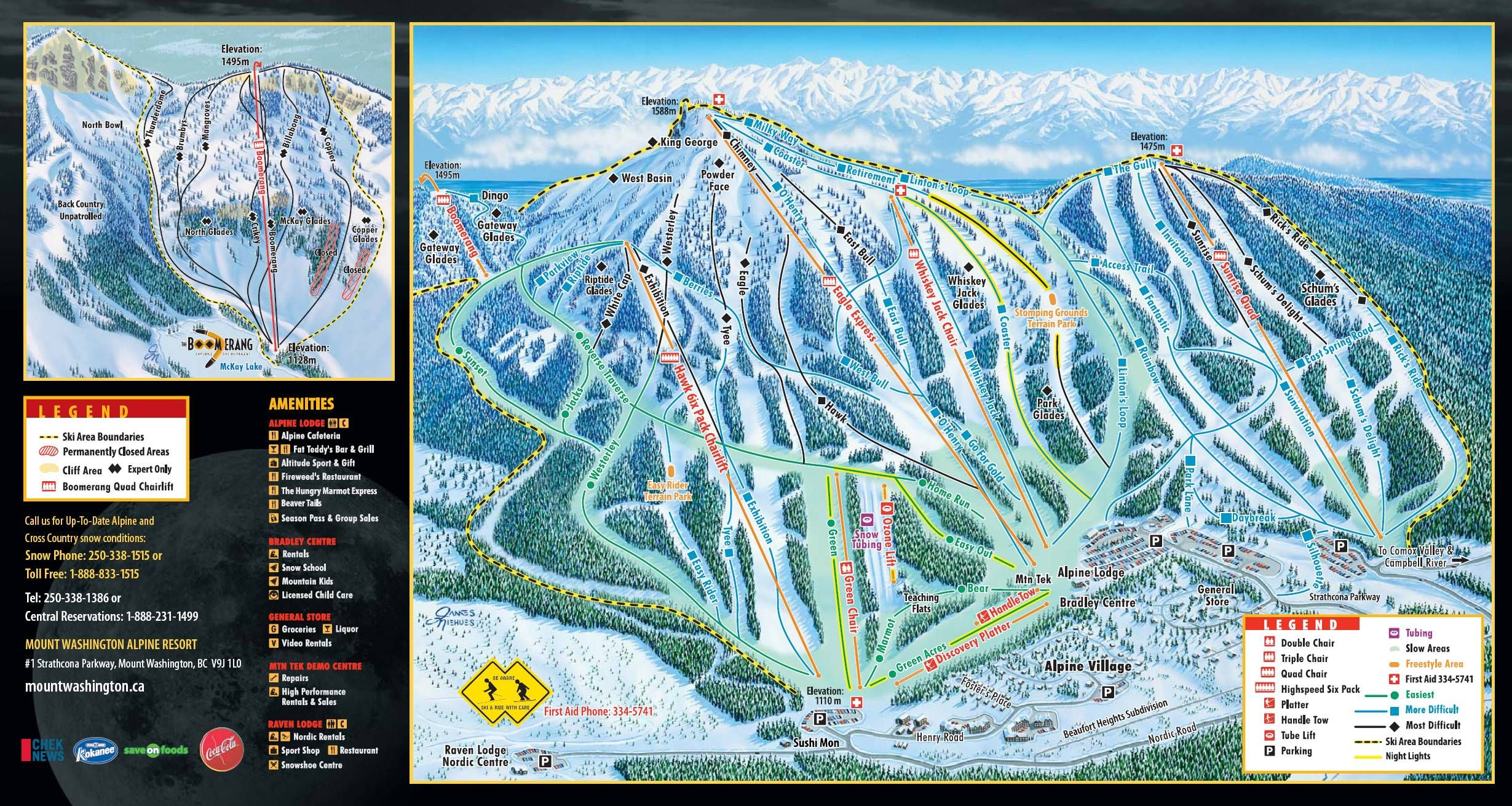 Mt Washington Lodging Mt Washington trail map