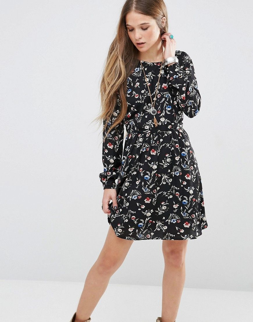 Buy it now. Pepe Jeans Mabel Floral Dress - Black. Dress by Pepe Jeans