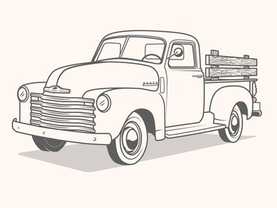 Truck Illustration Truck Coloring Pages Truck Crafts Truck Art