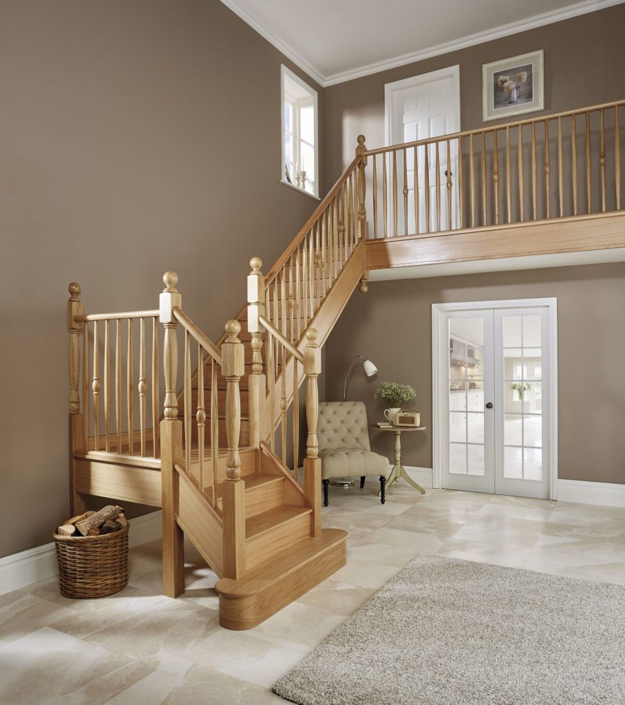 Beautiful Interior Staircase Ideas And Newel Post Designs: Unique Oak Timber Staircase In 2020