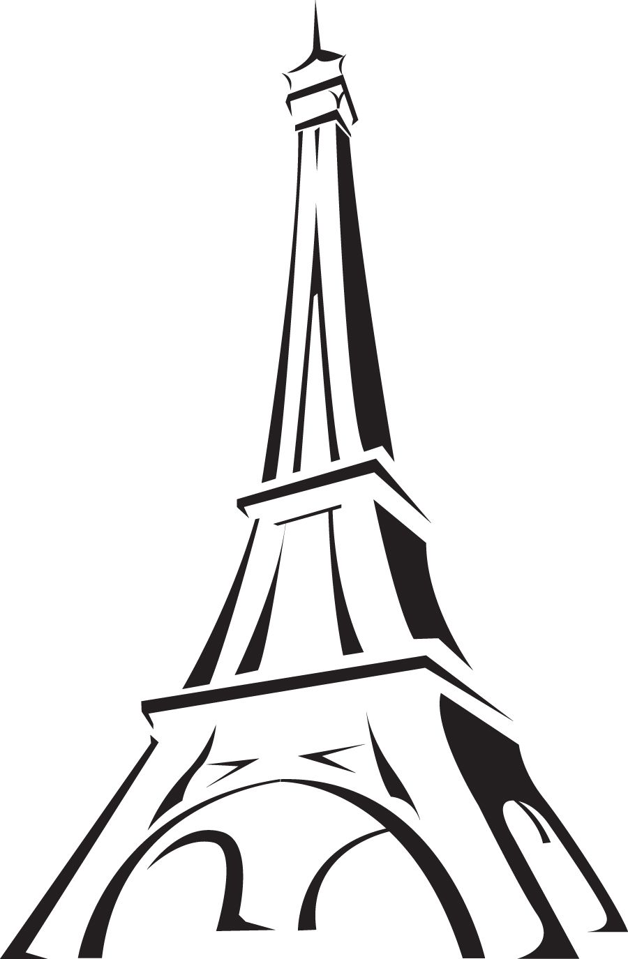 France clipart image the eiffel tower in paris france with the
