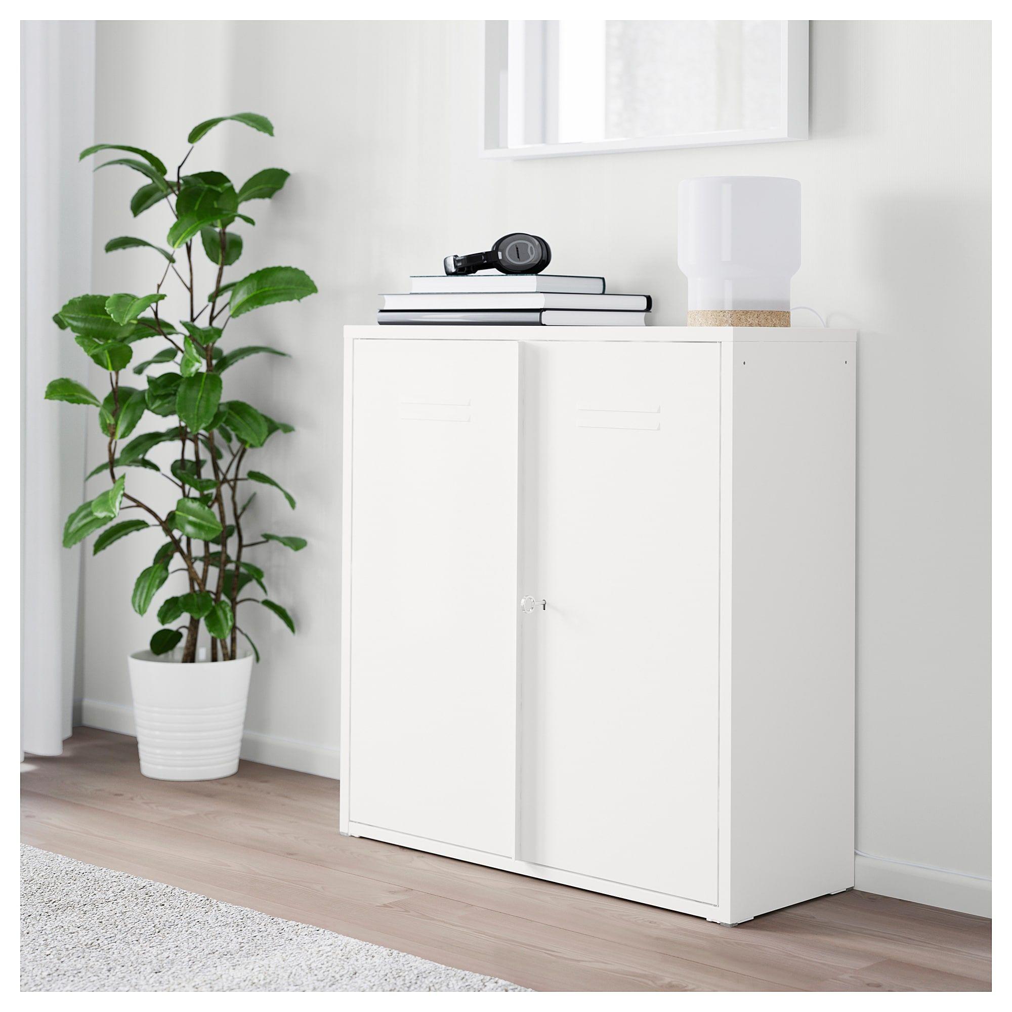 IKEA IVAR White with doors Ikea storage