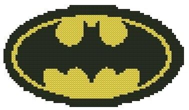 Free US Shipping Counted Cross Stitch Pattern Batman vs Superman Logo #2
