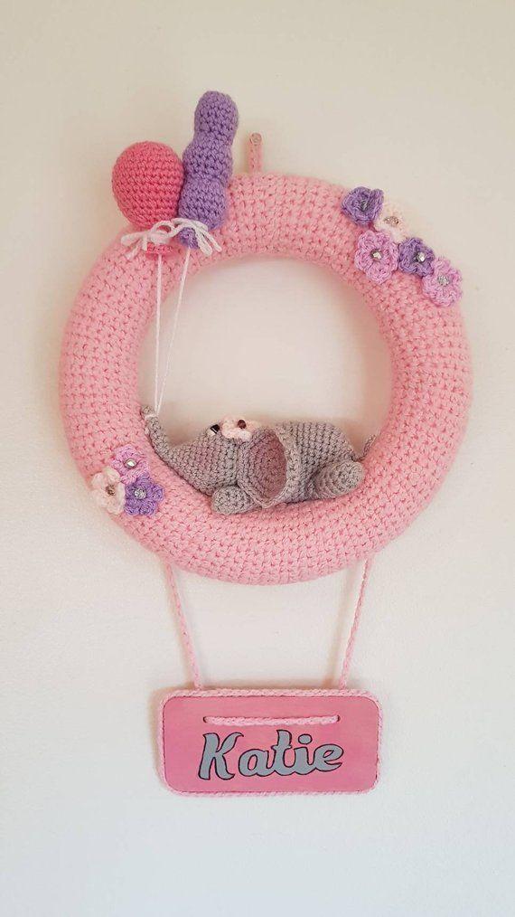 Photo of Personalised baby girl nursery decoration. Unique baby decor – Baby girls room decoration – n…