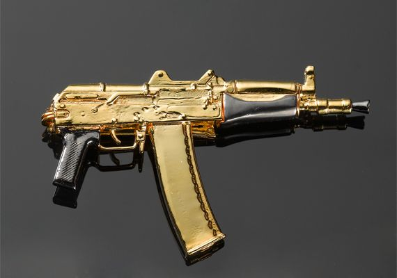 Ak47 Money clip. My husband has one of these. A real one I ...  Real Golden Guns