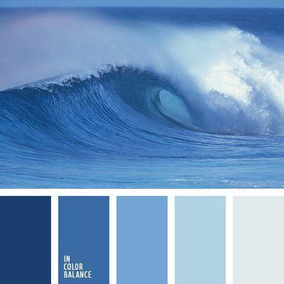 azul claro, azul medianoche, azul oscuro, azul turquí, celeste