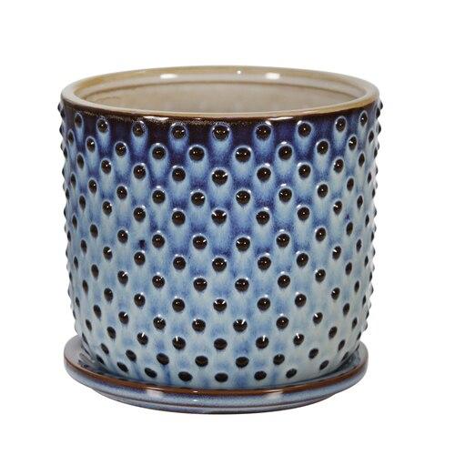 14771 10 Ceramic 6 Dotted Planter W Saucer Blue Www Sagebrookhome Com Sagebrookhome Wholesaledecor Homedecor In 2020 Wholesale Decor Saucer New Ceramics