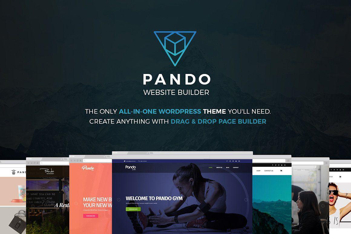 12fed06daf0 Pando Website Builder WordPress  customization easy options unique ...