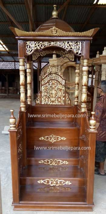 Mimbar Masjid Kayu Jati Pilihan Utama Furniture Masjid Anda Kayu