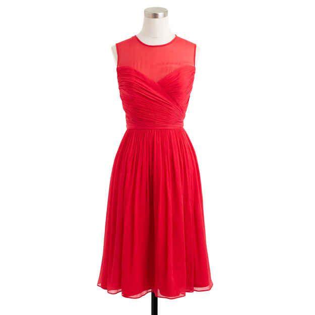 A twirly silk chiffon dress.