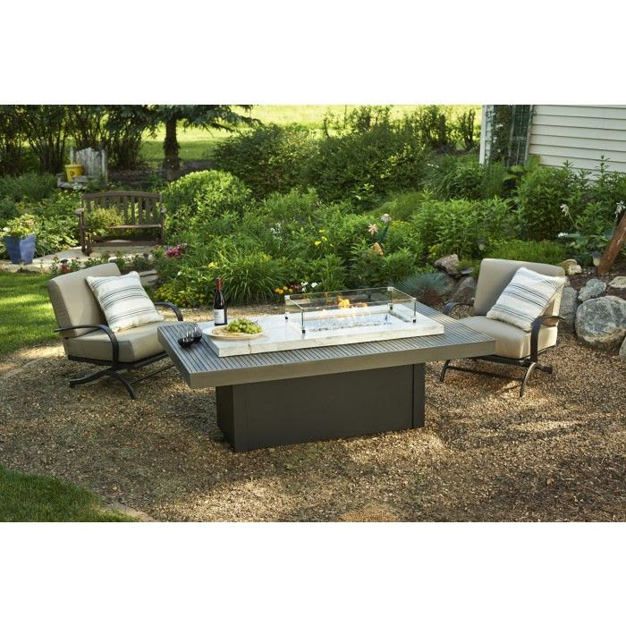 The Boardwalk Chat Height Fire Pit Coffee Table