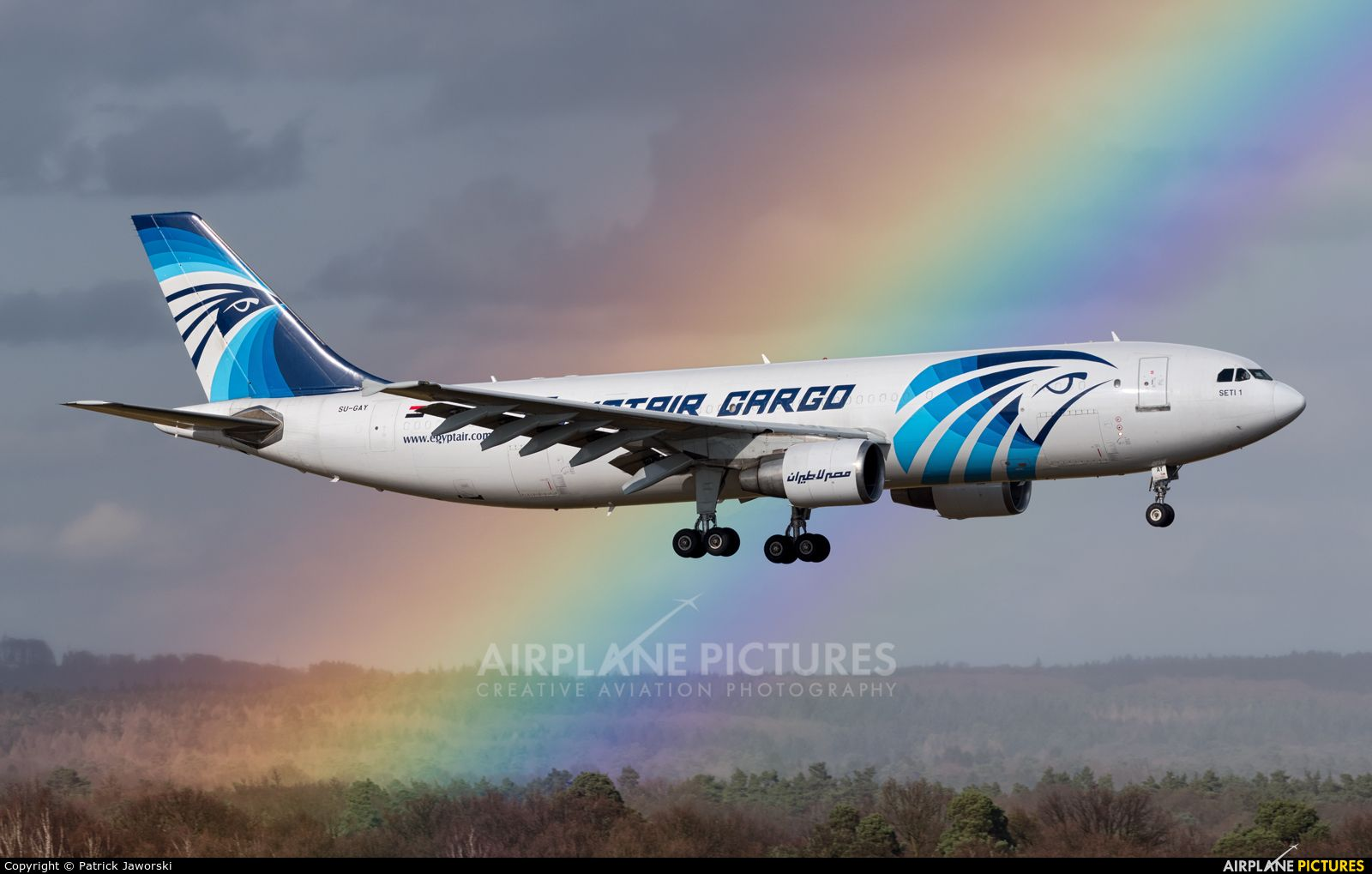 Egyptair Cargo Airbus A300 photo by Patrick Jaworski