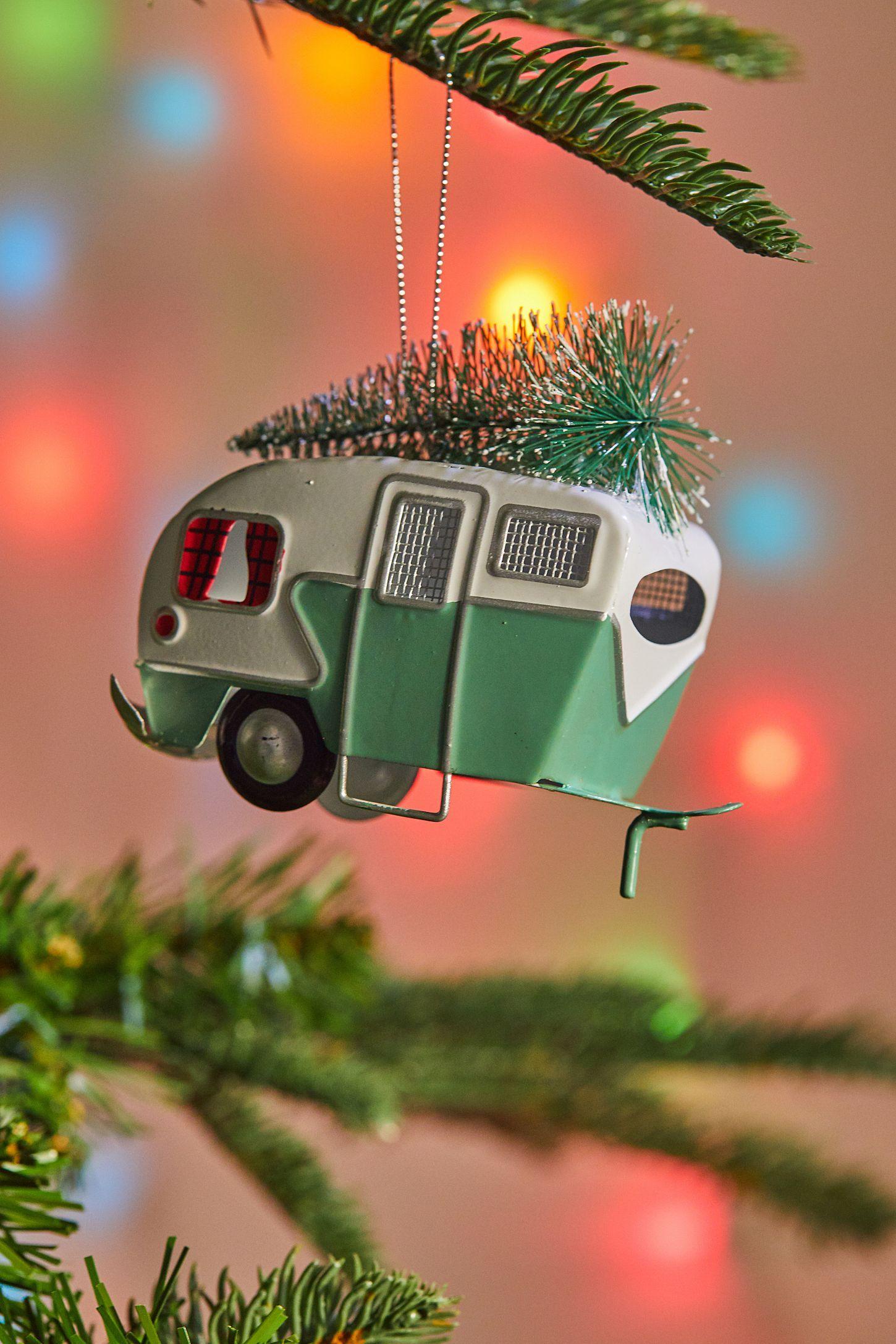 Tin Camper Van Christmas Ornament in 2018 Holidays