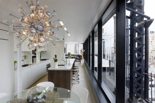 Sputnik Kronleuchter Jonathan Adler Moderne Wohnung Küche