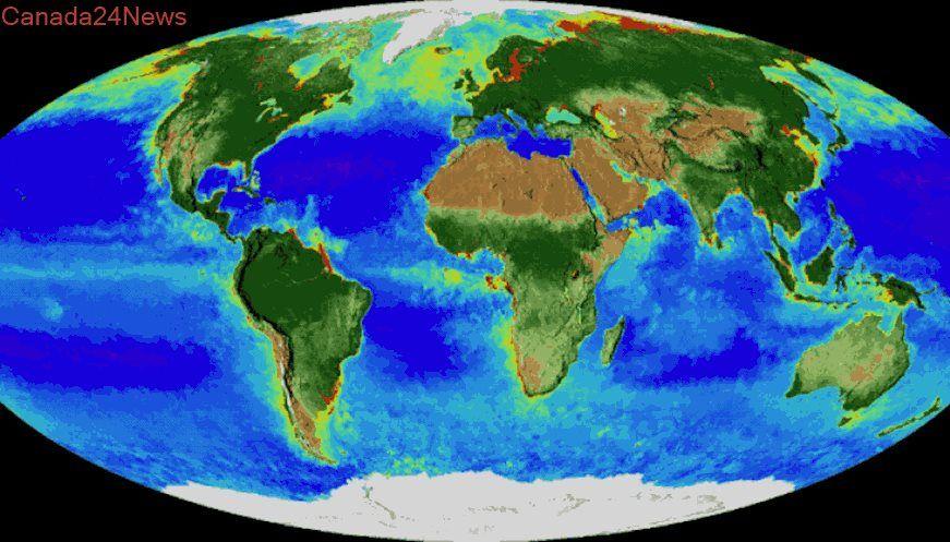 NASA Satellite Imagery Provides Animation Of Breathing Earth - Current satellite image of world
