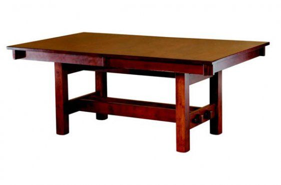 Contemporary Trestle Tables The Amish Craftsman Model - Minimalist finewood Top Search