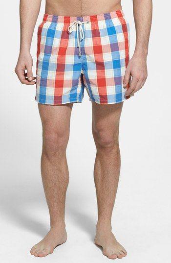 b96e0a8e8cd47 Gant 'O.P.' Check Swim Trunks available at #Nordstrom | Man Style ...