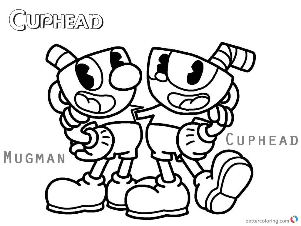 photo regarding Cuphead Coloring Pages Printable titled Cuphead Coloring Webpages Cuphead and Mugman printable