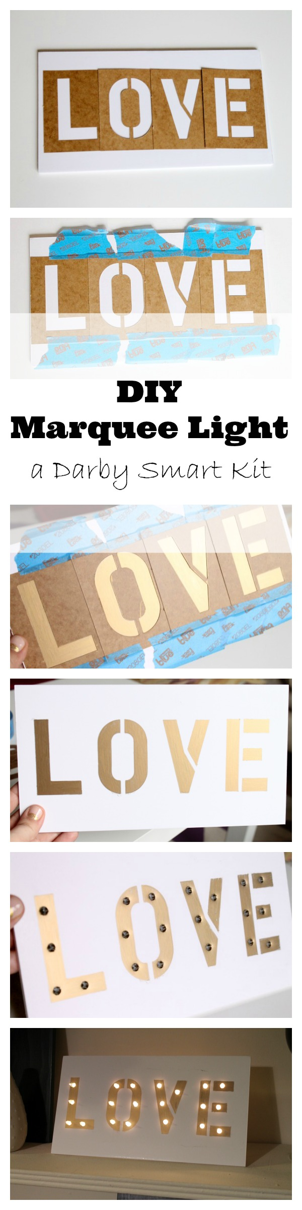 Darby Smart Review and Giveaway, DIY Marquee Light! | Best ...