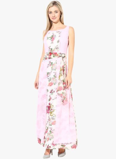 c67bdce7f500 Buy Athena Pink Colored Printed Maxi Dress for Women Online India ...