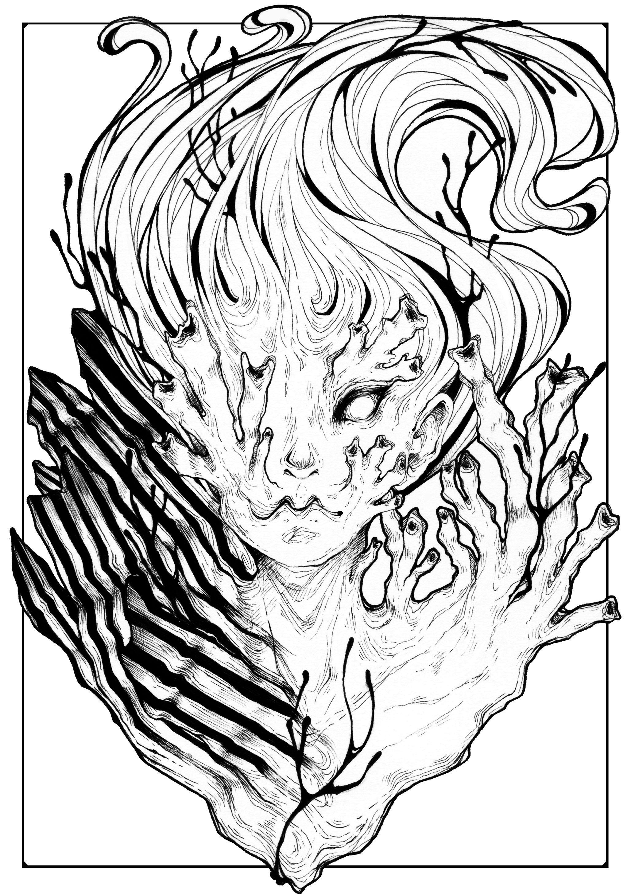 2014 Ink on paper https://www.instagram.com/cmripleyart/ #drawing ...