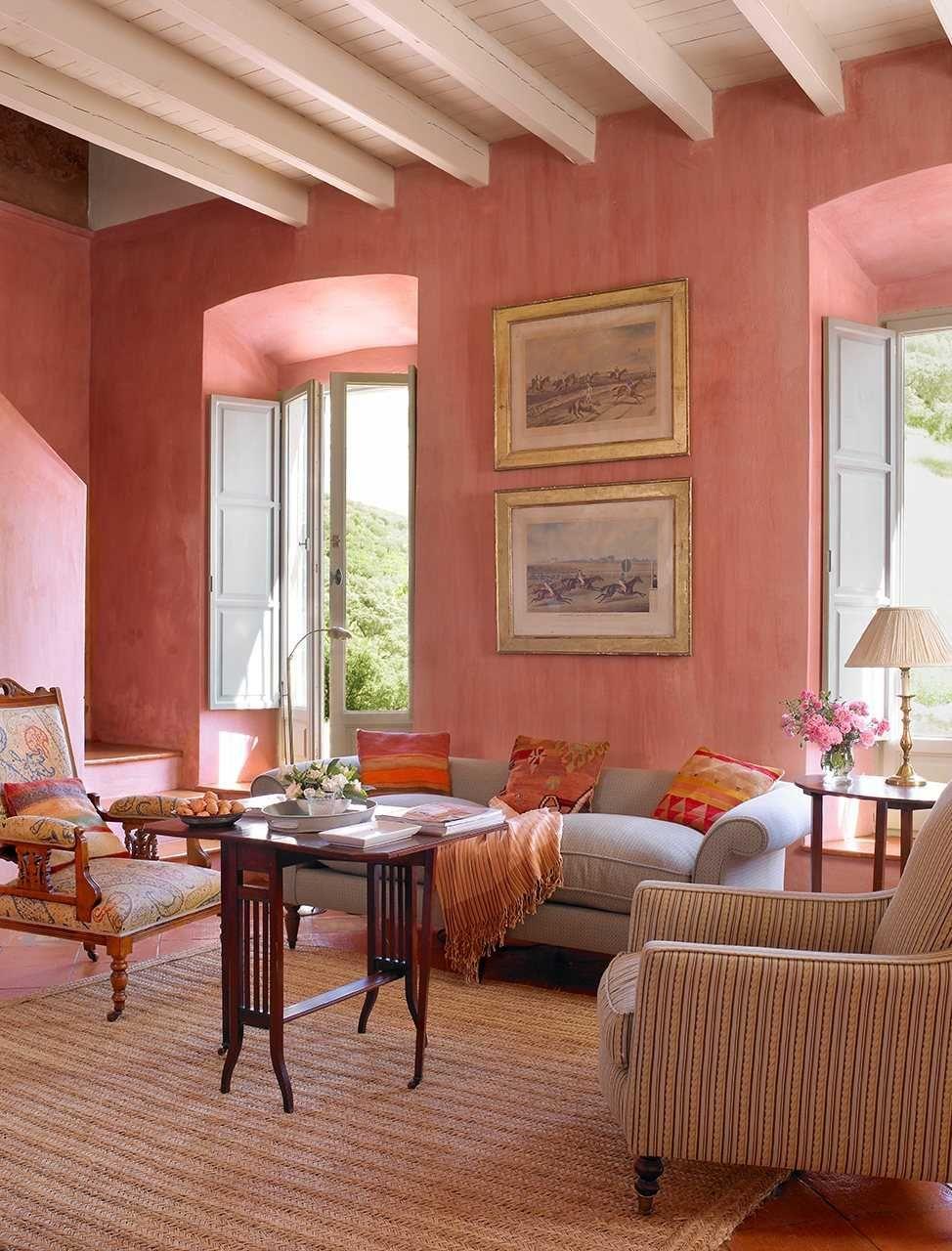 Colores Para Paredes De Salon Imagenes Pintado En Color Salmon ...