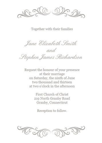 Stylized Laurels Wedding Invitation Invitation kits, Invitation - invitation download template