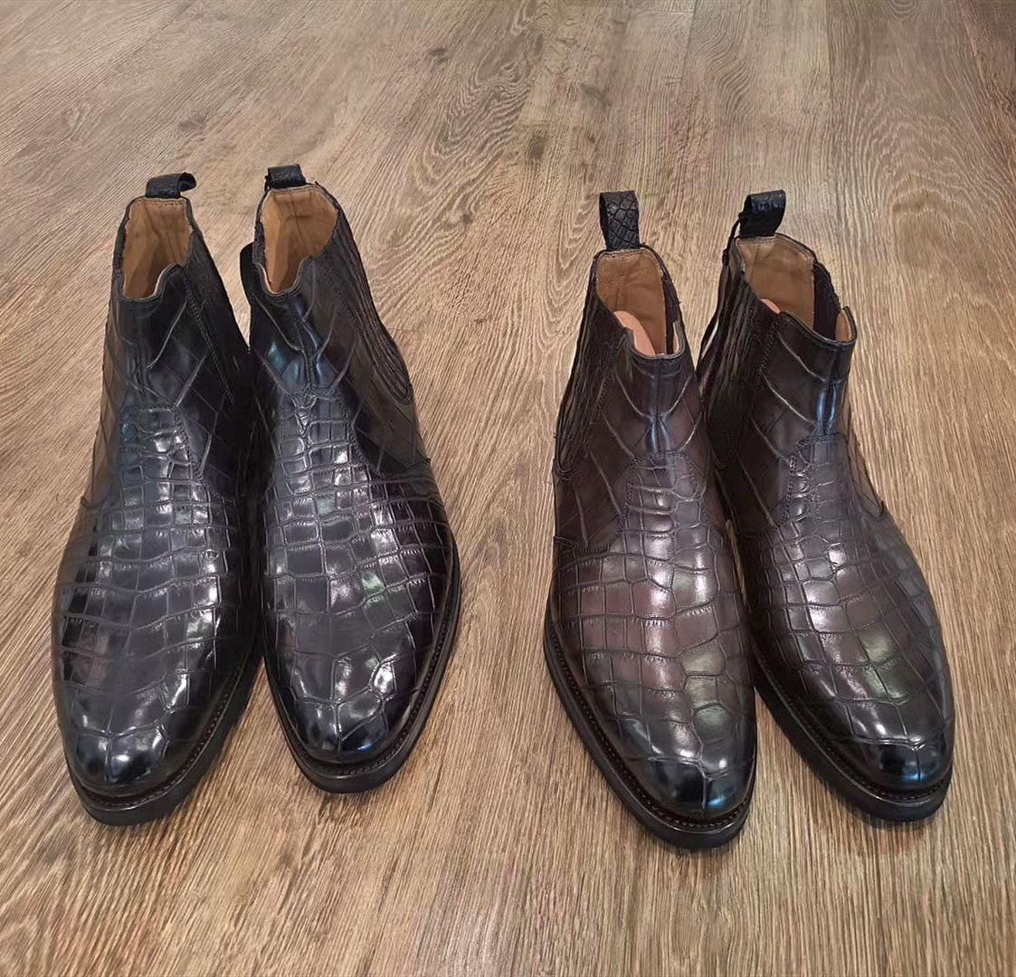 Alligator Chelsea Boots in 2020 Mens leather bag