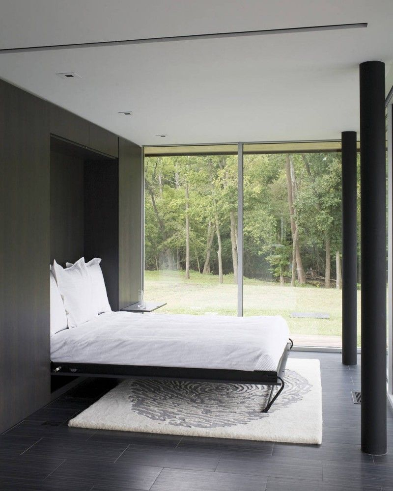 Curved House / Hufft Projects Modern murphy beds, Bed