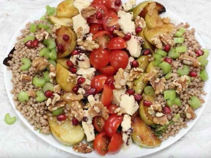 Caramelized Apple couscous salad