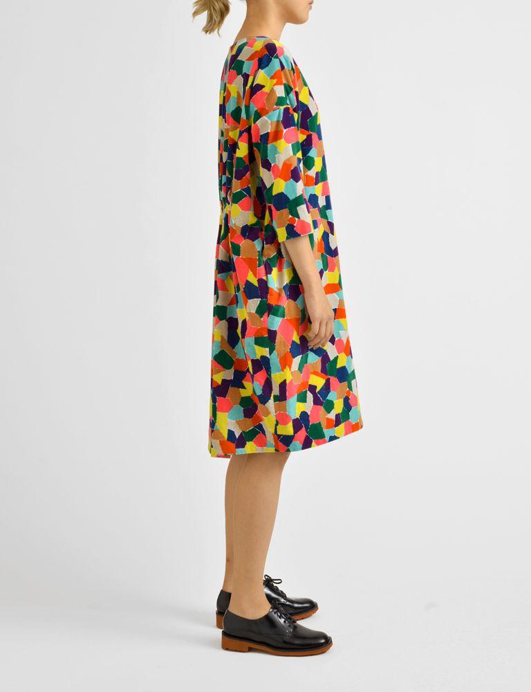 piazza cotton velvet dress