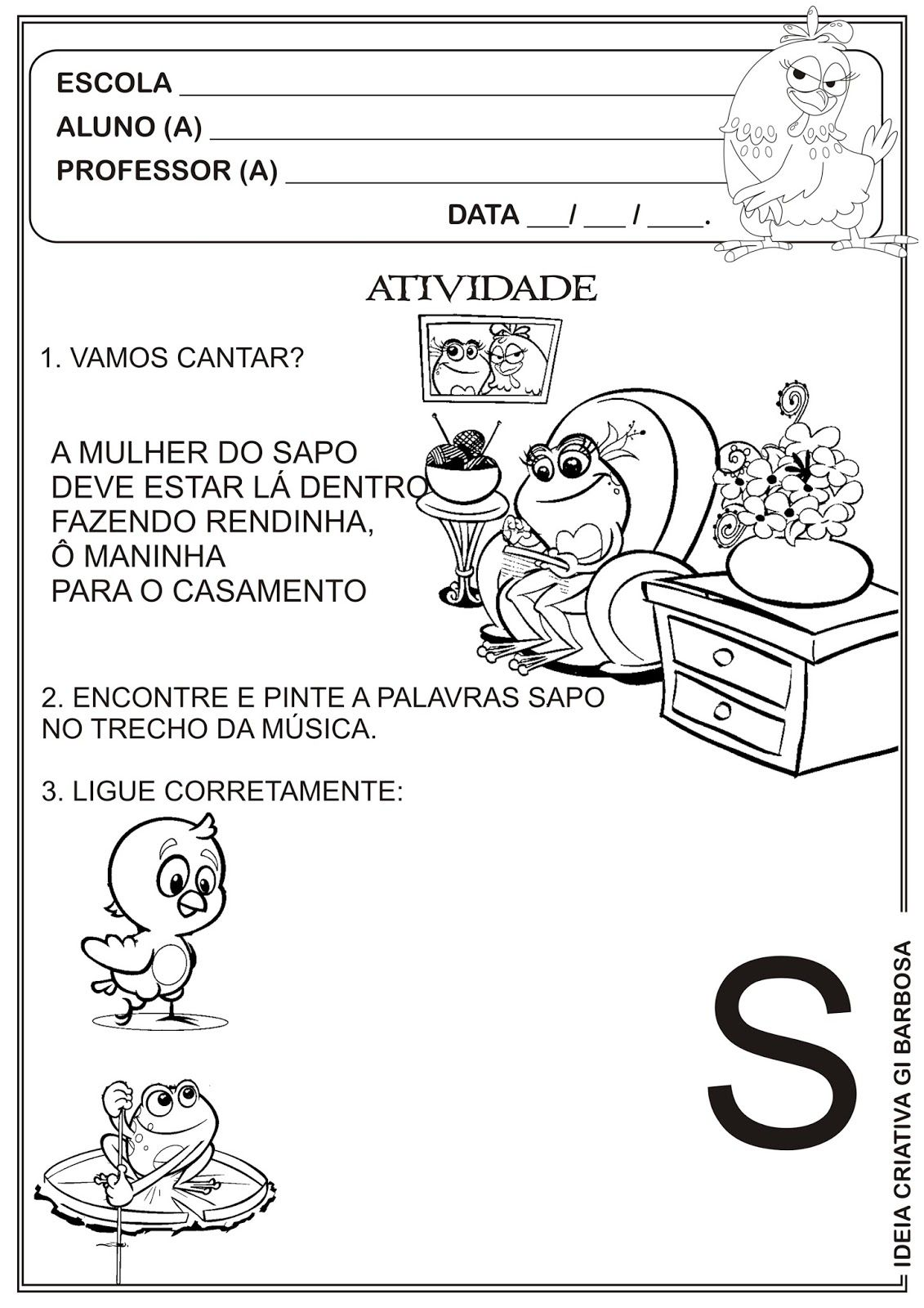 Famosos ATIVIDADE-GALINHA-PINTADINHA-SAPO-JURURU.jpg (1131×1600) | neyla  UE74