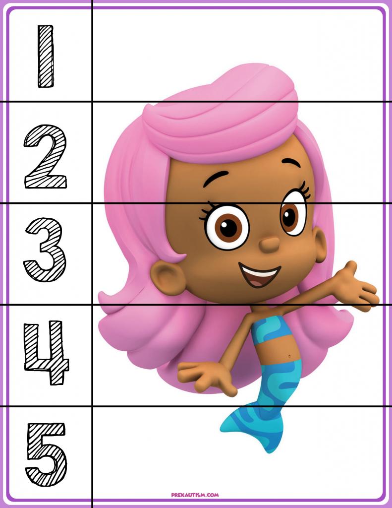 free bubble guppies 1 5 puzzles autism u0026 education autism
