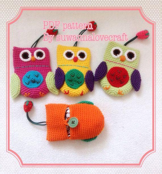 Owl key cover / mini purse crochet pattern by suwannacraftshop ...