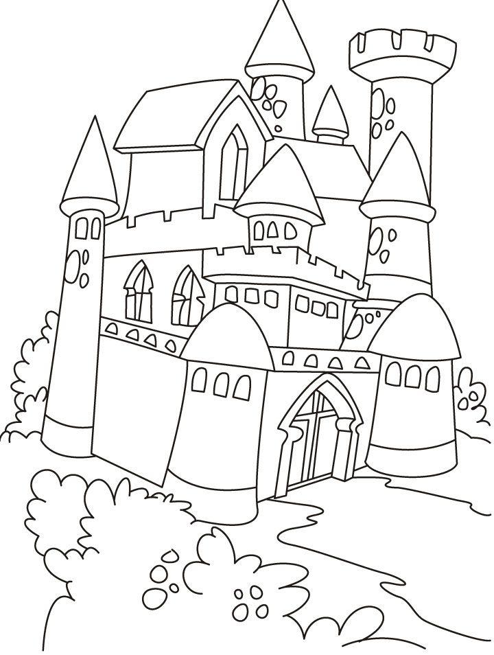 Castle And Princess Coloring Pages Castle Coloring Page Princess Coloring Pages Coloring Pages
