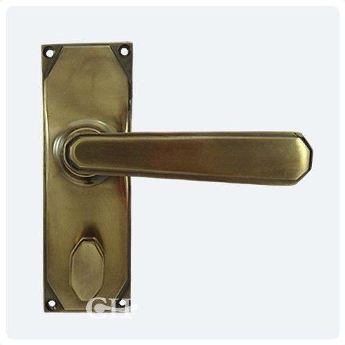 Art Deco Lever Door Handles In Nickel Chrome Brass Or Bronze