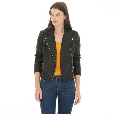 Pimkie.fr   La veste noire style motard est un indispensable de la garde  robe. 2ab0c0a532be
