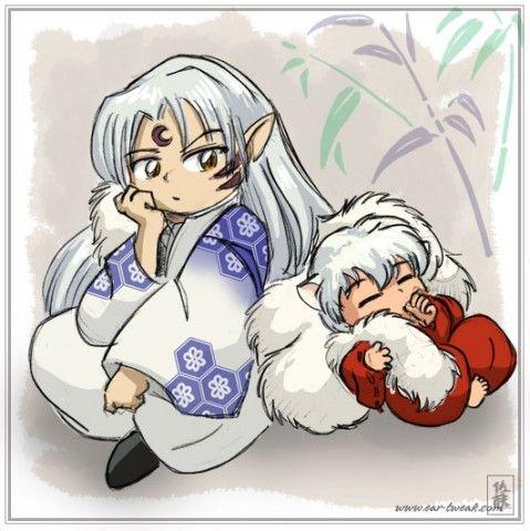 "Inuyasha and Sesshoumaru, ""I hate babysitting."" they probably still fight"