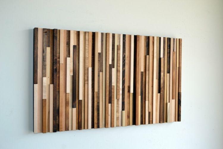 Holz leisten f r ein patchwork bild do it yourself - Holz wanddekoration ...