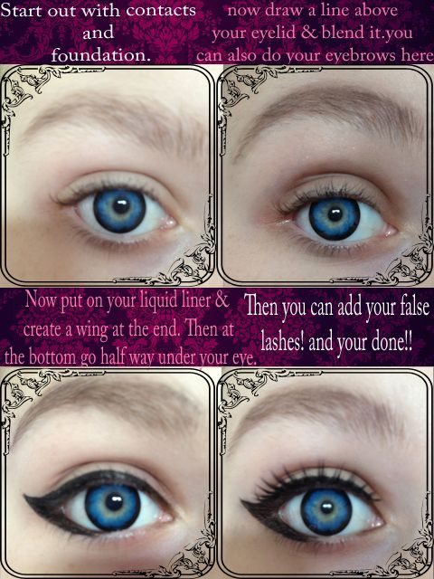 Dolly Eye Makeup Tutorial By Mooneyez Makeup Pinterest