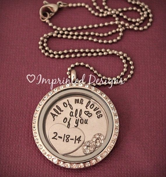 Living Locket / Wedding Floating Locket / Anniversary Necklace / Floating Charm Locket