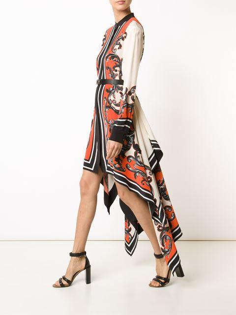 Issa Baroque Print Fishtail Dress - Tootsies - Farfetch.com ...