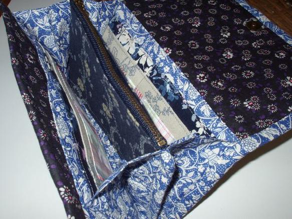お江戸風長財布です。江戸時代劇のそばやで働く娘さんのイメージで製作しました。お気に入りの生地をいろいろ使って地味なようでにぎやかな感じになりました。長財布の後...|ハンドメイド、手作り、手仕事品の通販・販売・購入ならCreema。