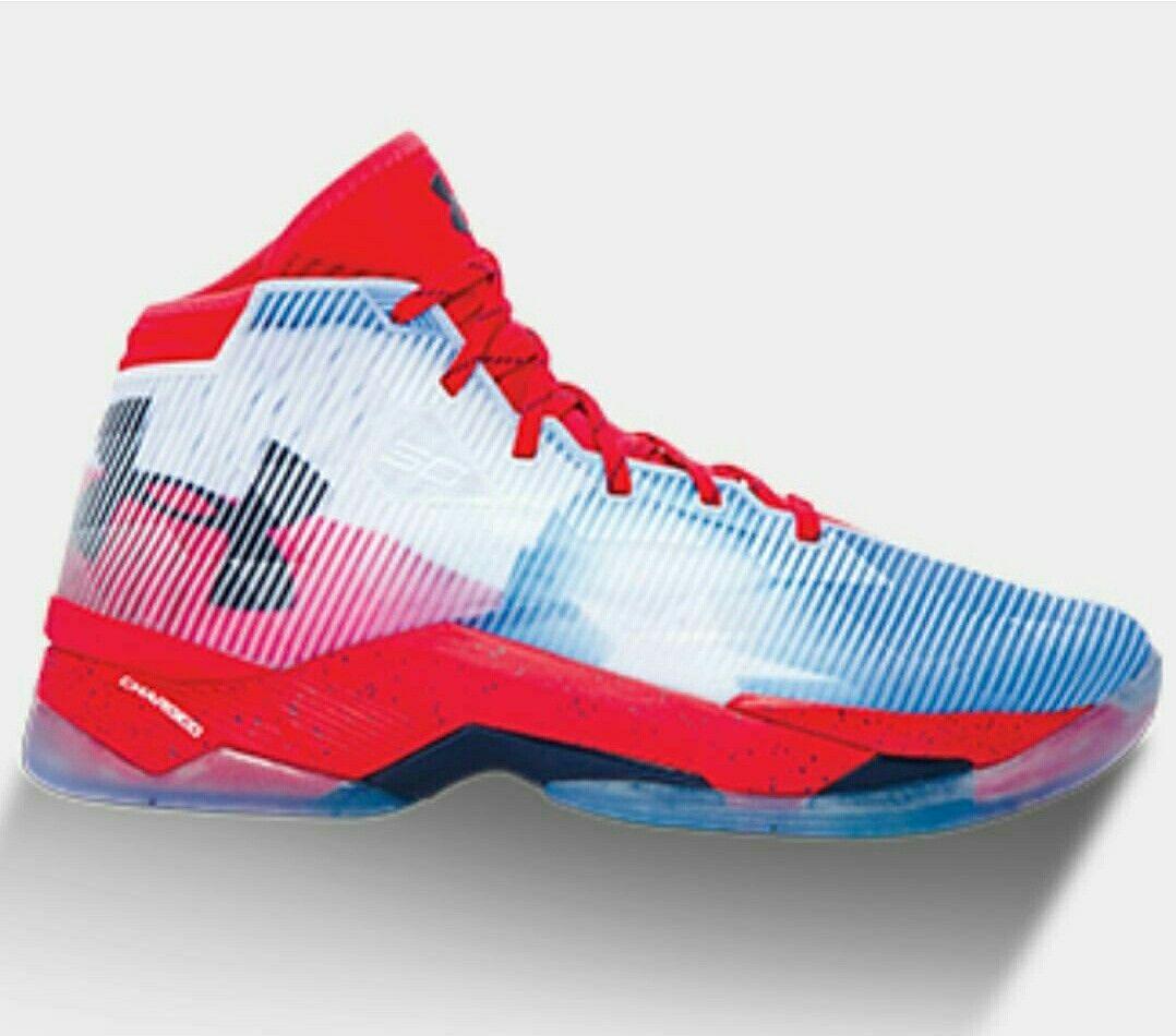 sale retailer 6174d 9cb87 Billig UA Curry 2.5 Texas Rot Blau Weiß 2017 Schuhe Verkauf